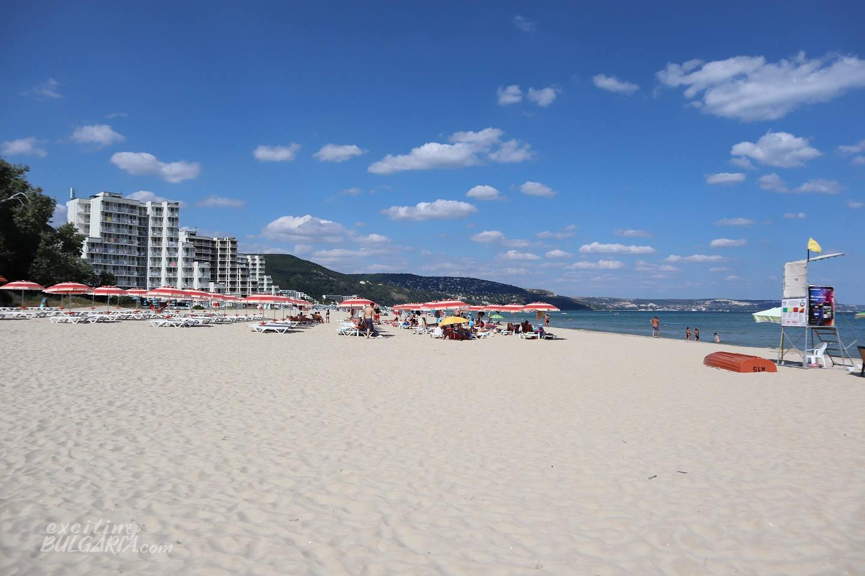 Sand on the beach of Albena