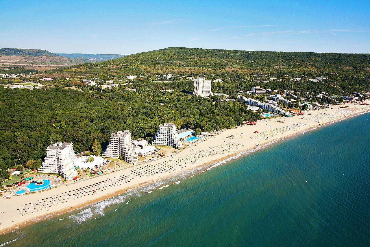 Albena sea resort from the air