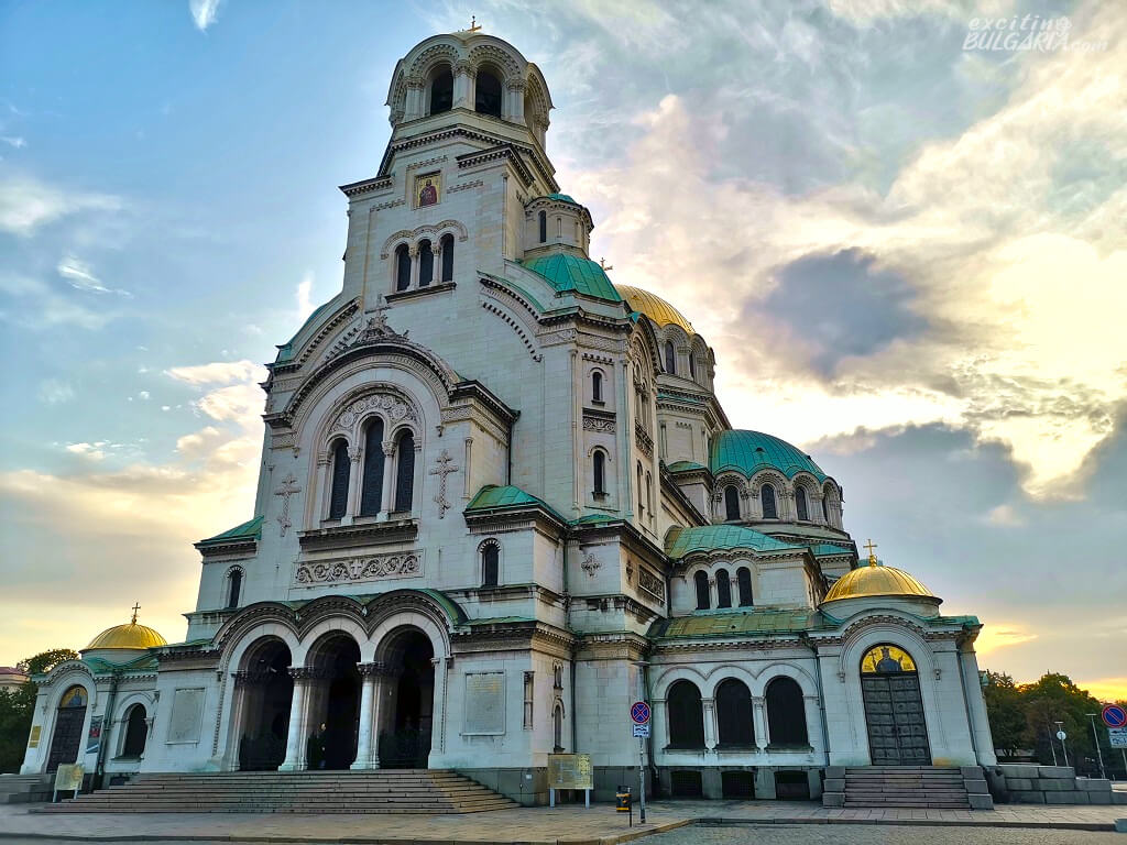 The front of Alexander Nevsky Cathedral