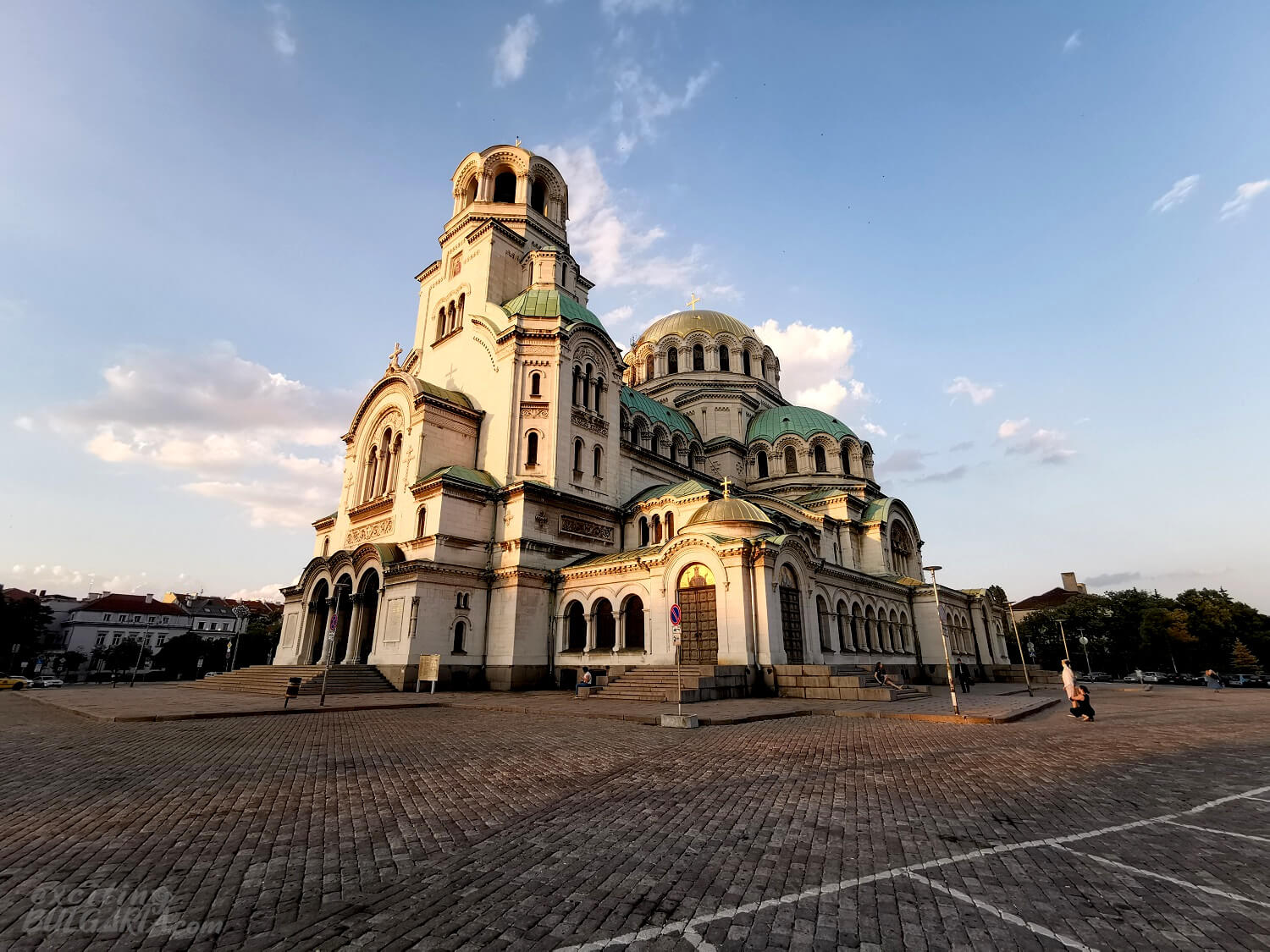Alexander Nevsky Cathedral from a wide angle