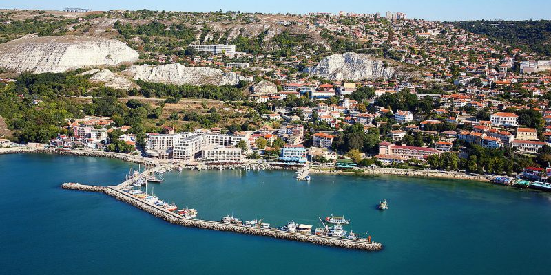 The aerial view of Balchik