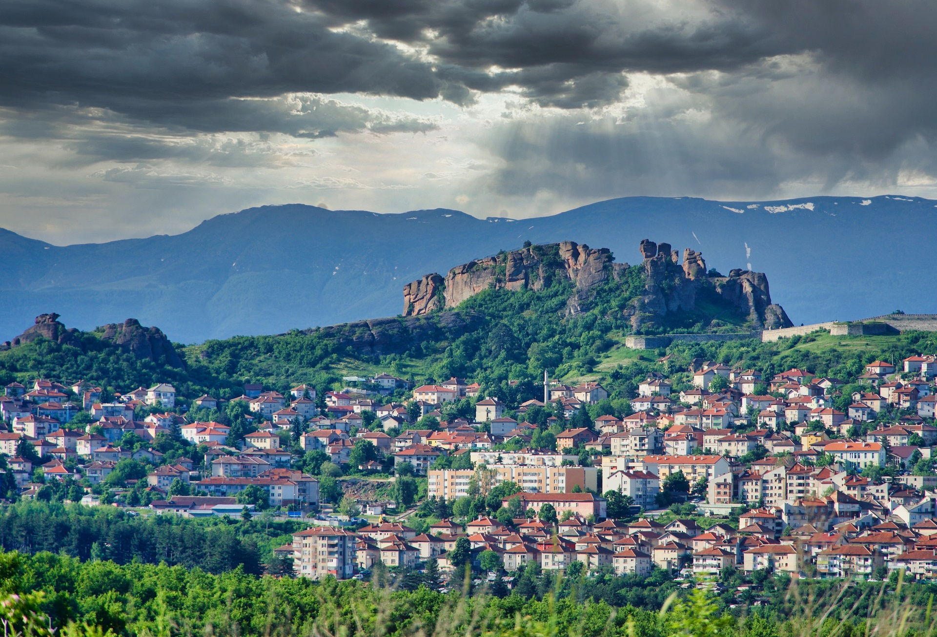 The Belogradchik rocks and fortress from a distance