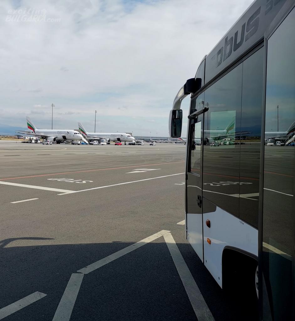 Planes of Bulgaria Air at Sofia Airport
