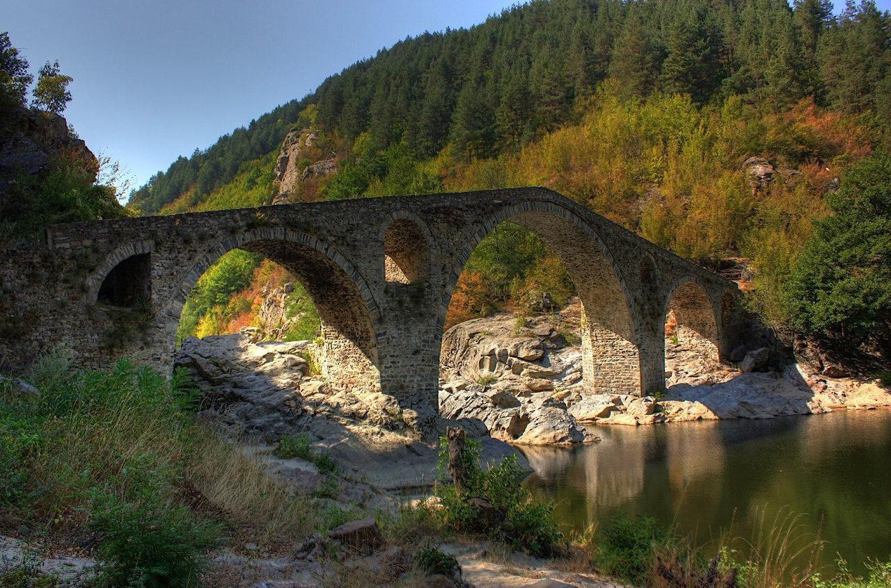 The view of Devil's Bridge in Bulgaria