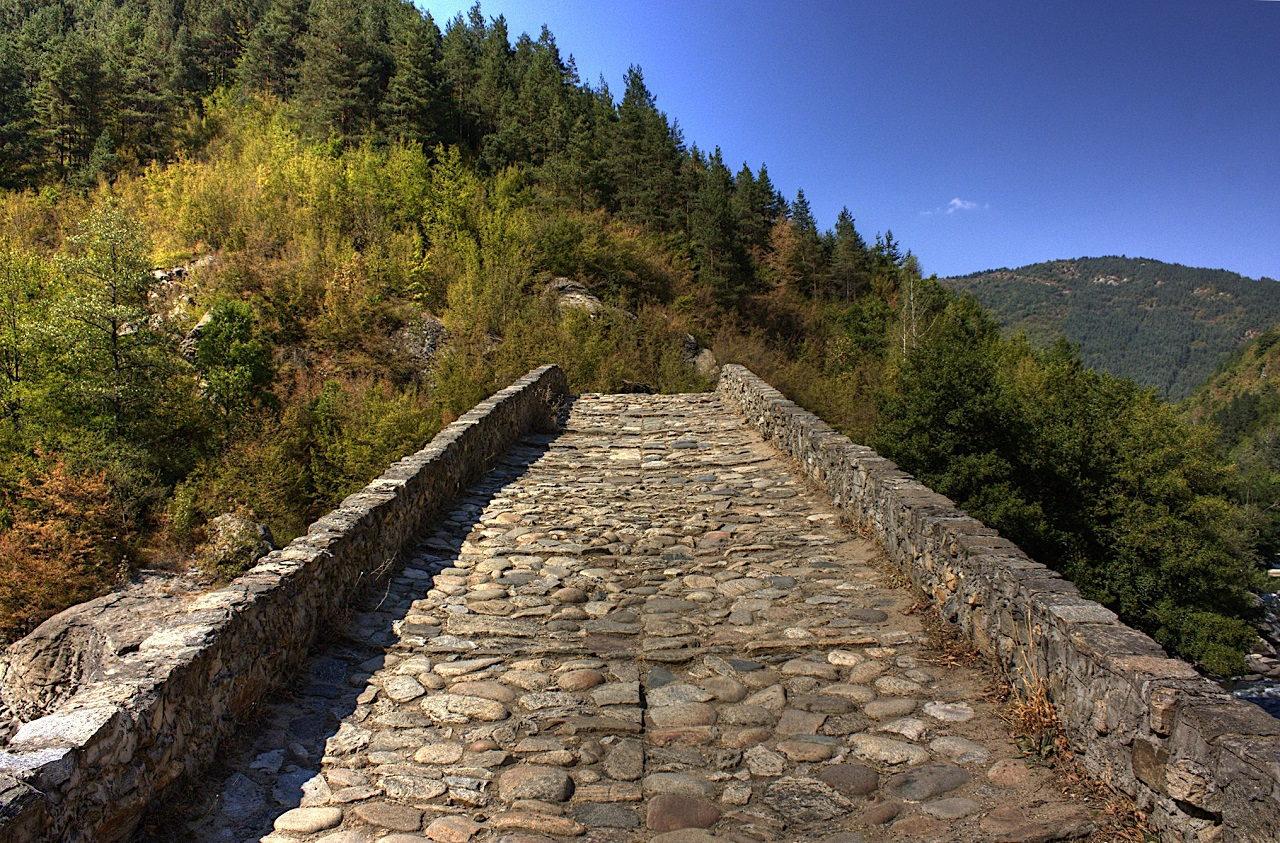 On Devil's Bridge in Bulgaria