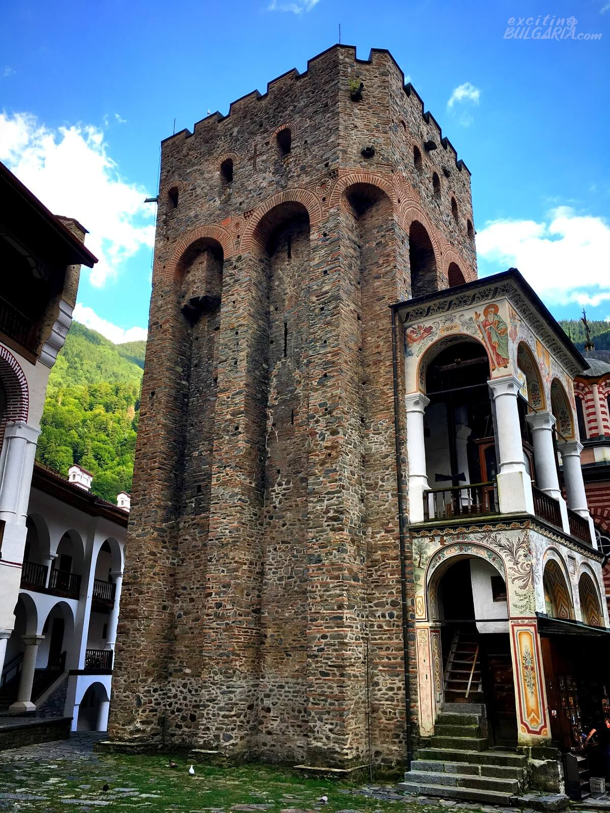 Hrelyo's tower in the Rila Monastery