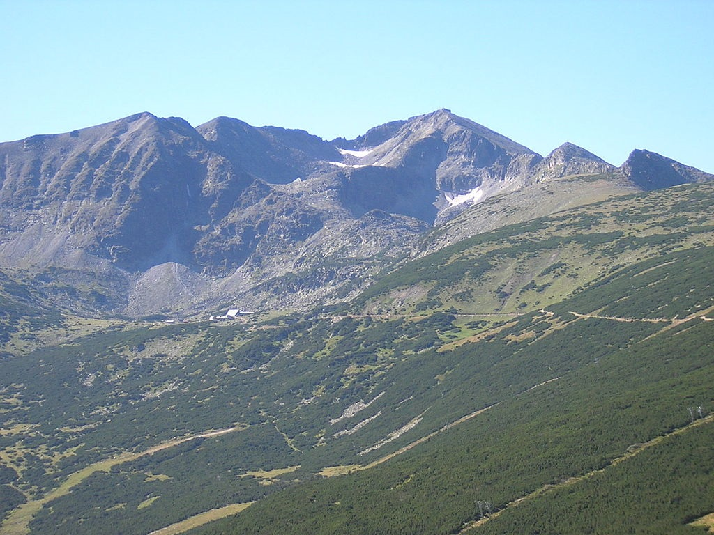 Musala peak in the Rila Mountains