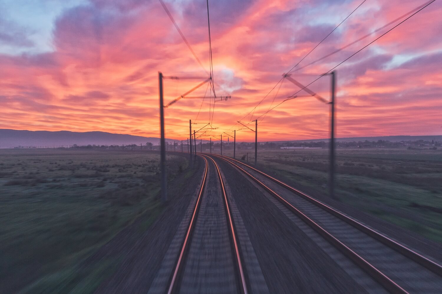Railway tracks in Bulgaria