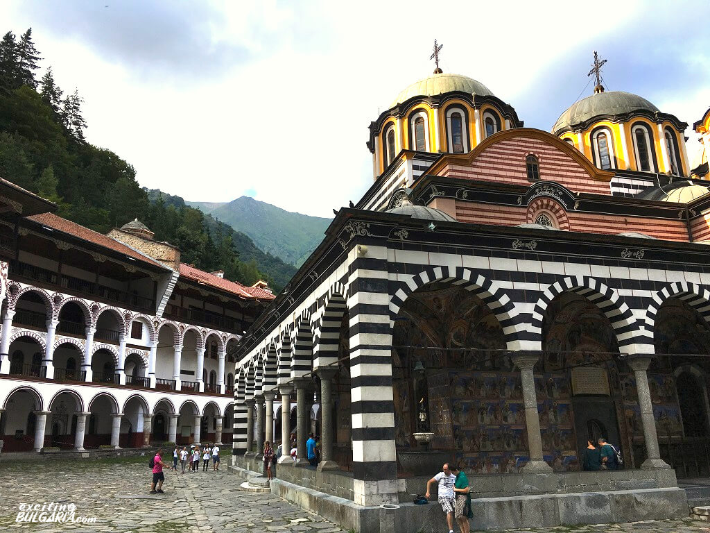 The yard of the Rila Monastery