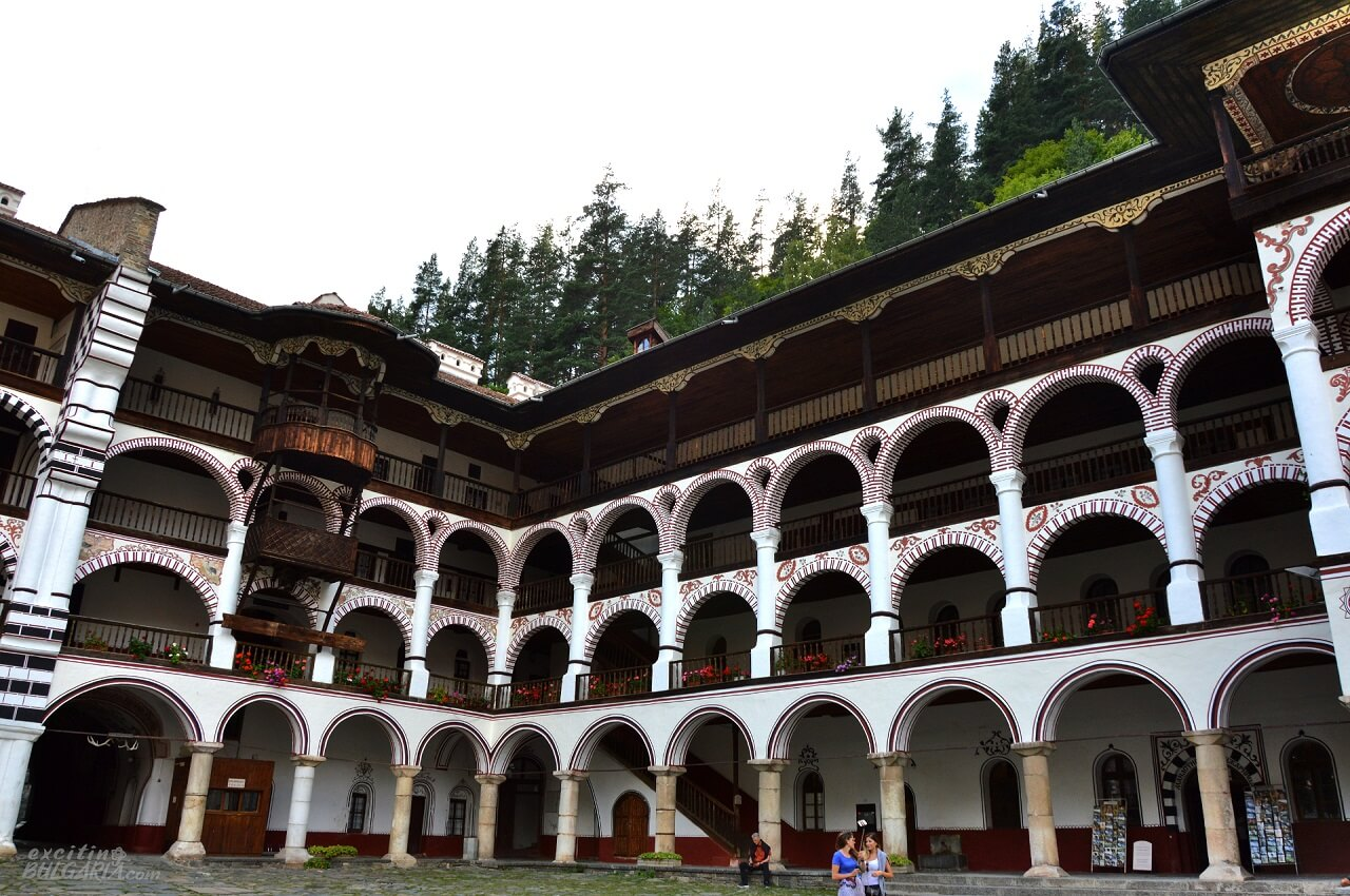 Inside the Rila Monastery