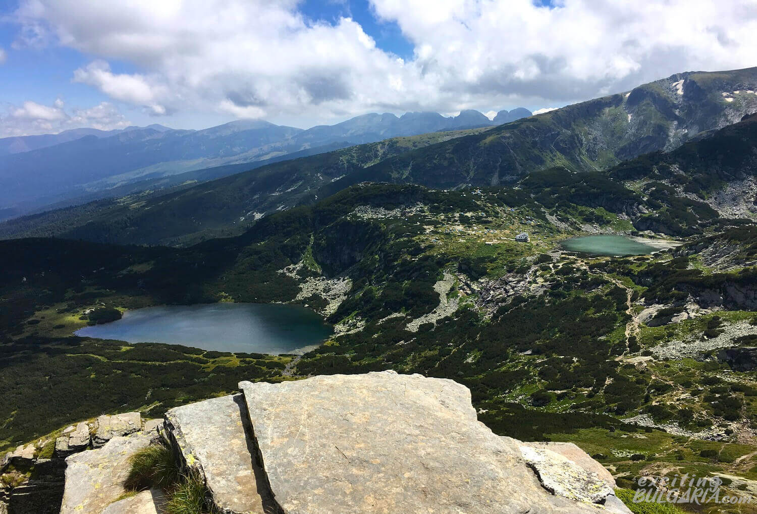 The Seven Rila Lakes area from above