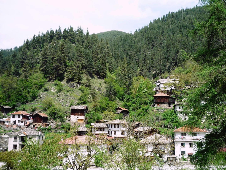 Panoramic view of Shiroka Laka, Bulgaria