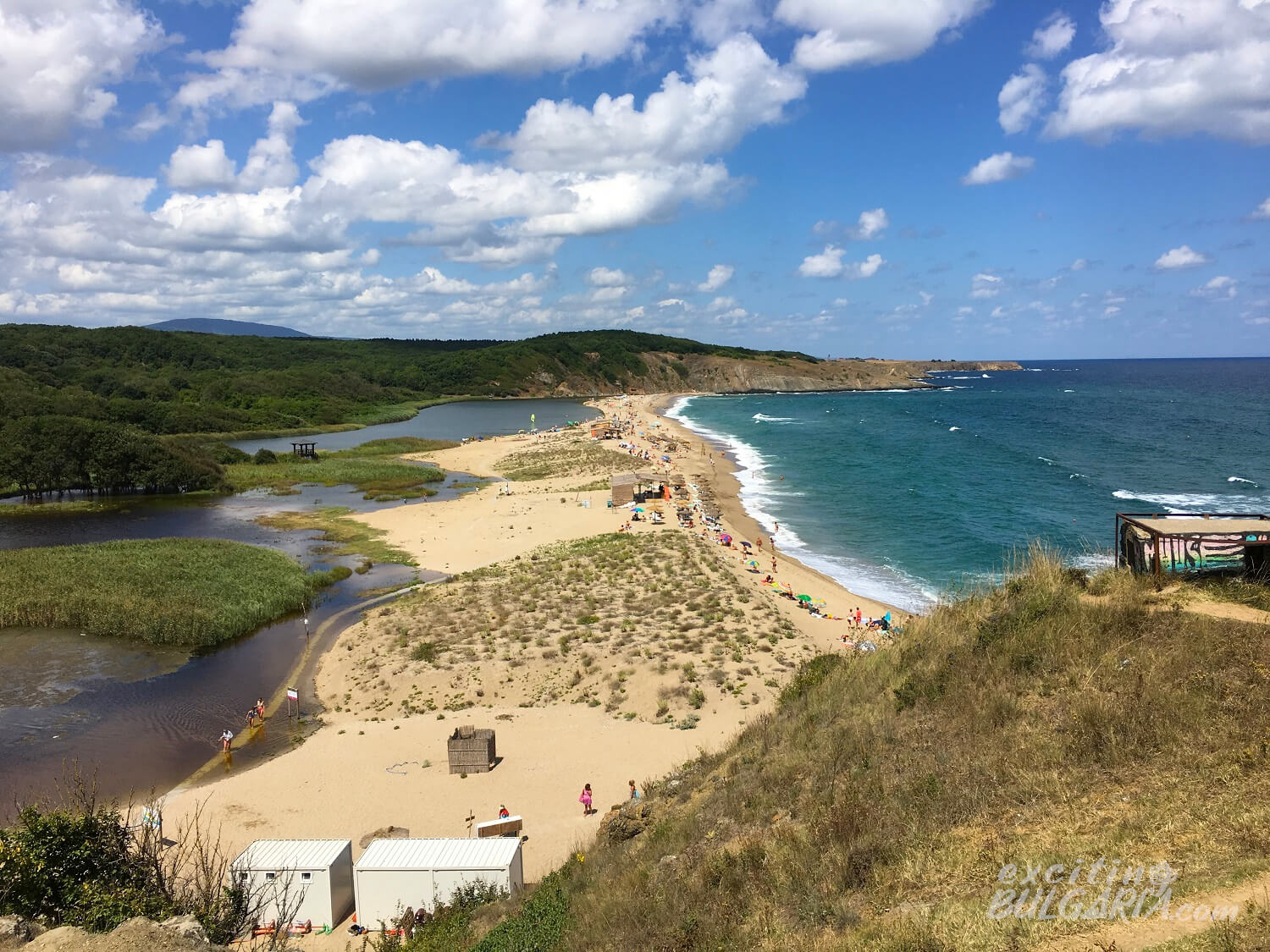 Panorama of Veleka beach, Sinemorets