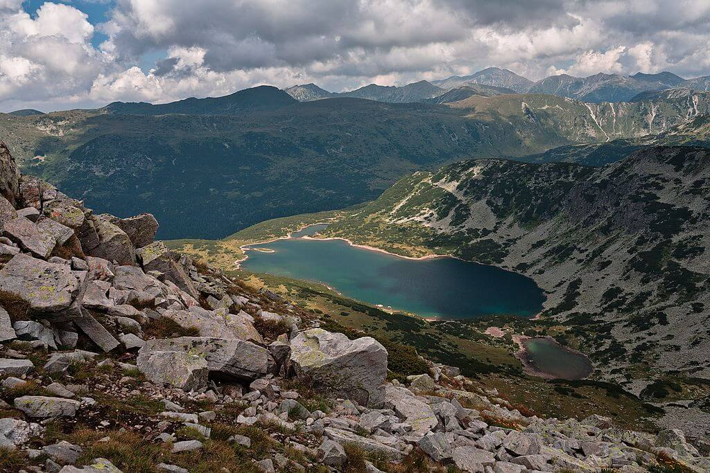 Smradlivo Lake from above in the Rila Mountains