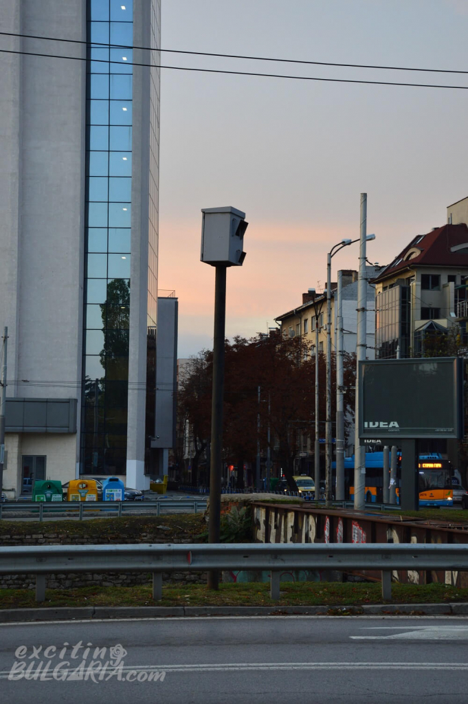 Speed trap in Sofia, Bulgaria
