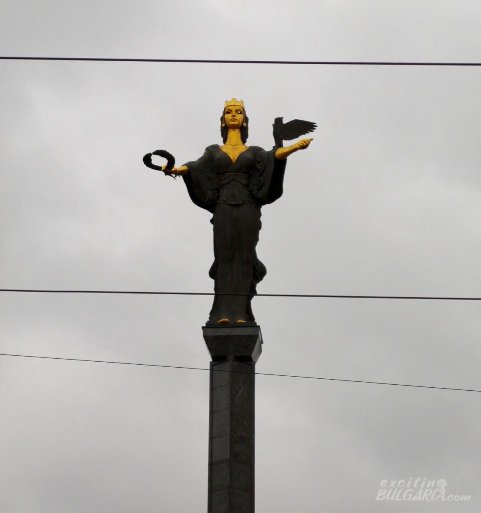 Zoomed view of the St Sofia Monument