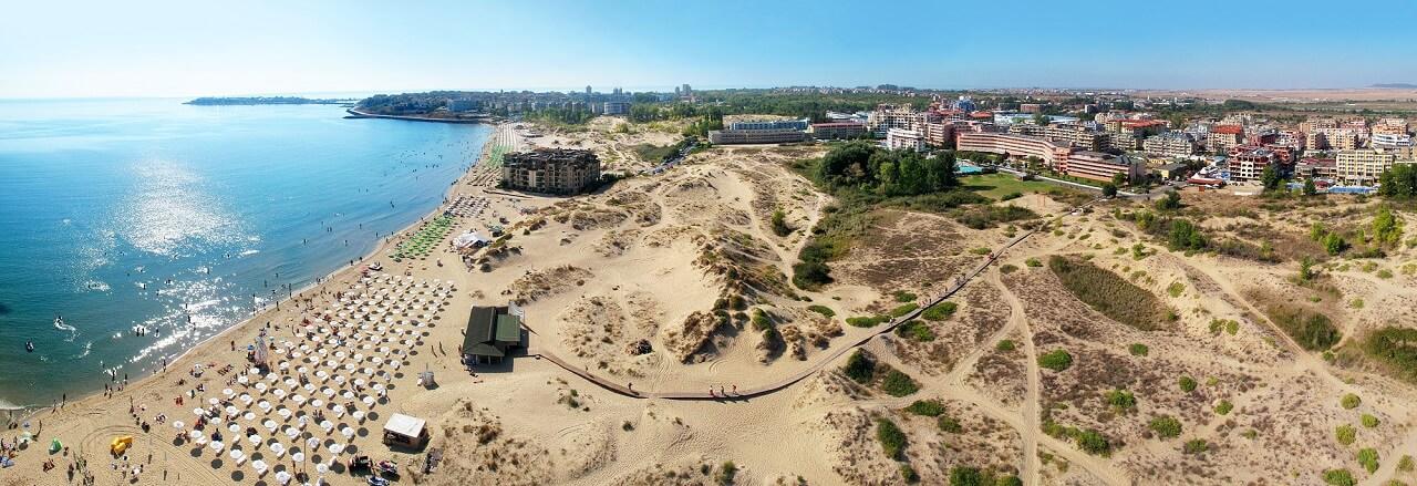 Sunny Beach aerial view