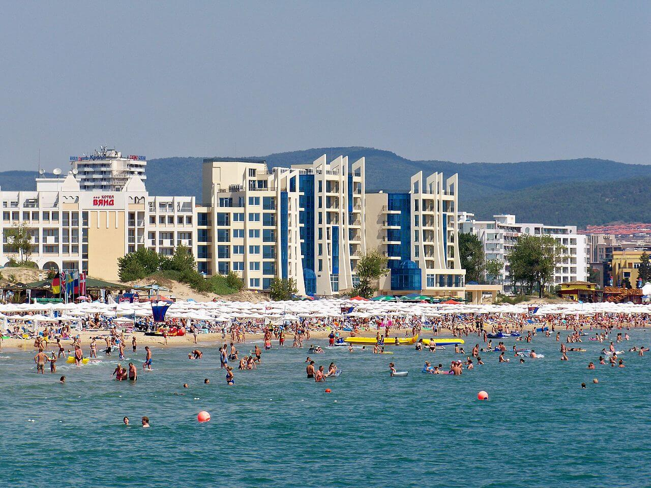 Sunny Beach from the sea
