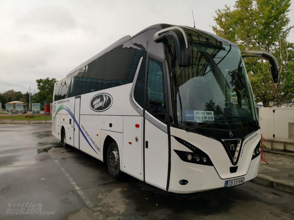 A modern bus of Union Ivkoni in Sofia