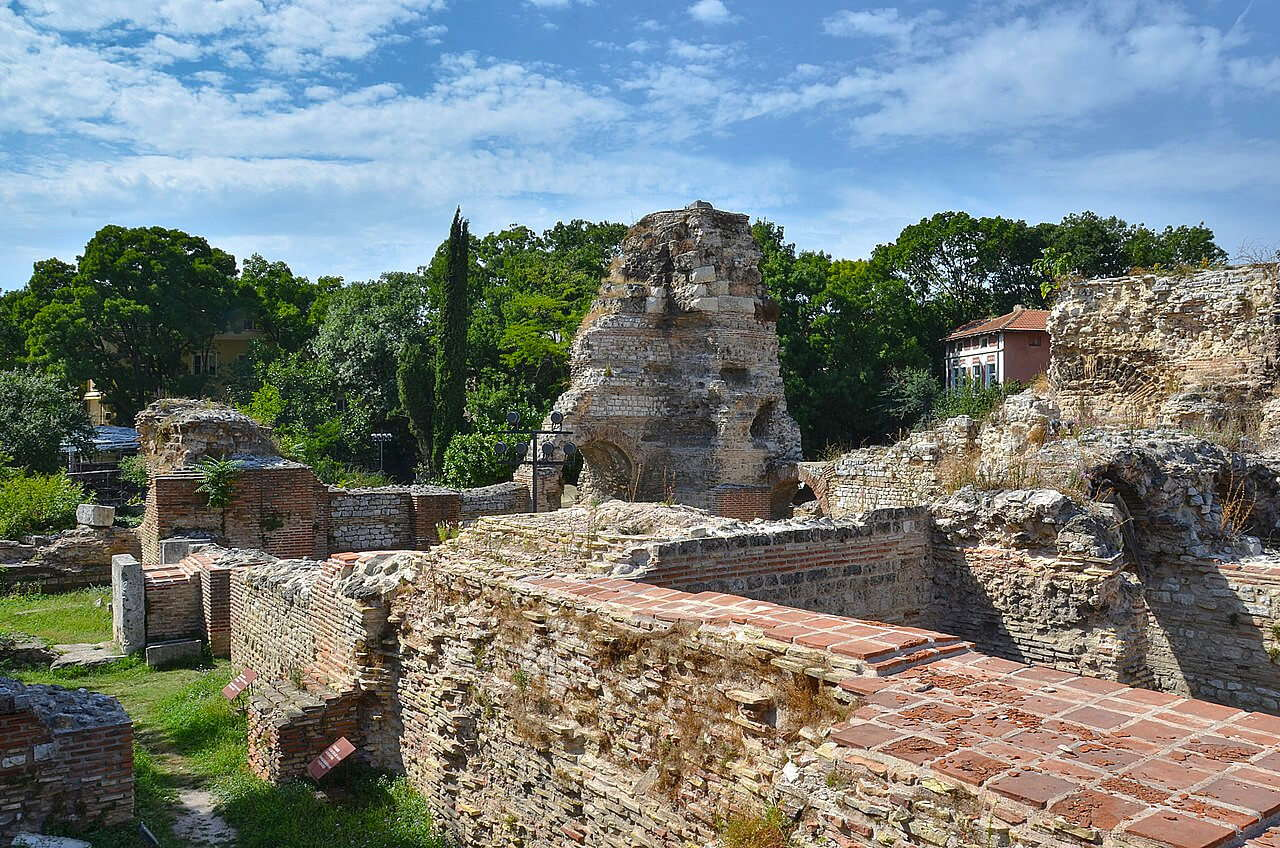 The remains of the Varna Roman baths