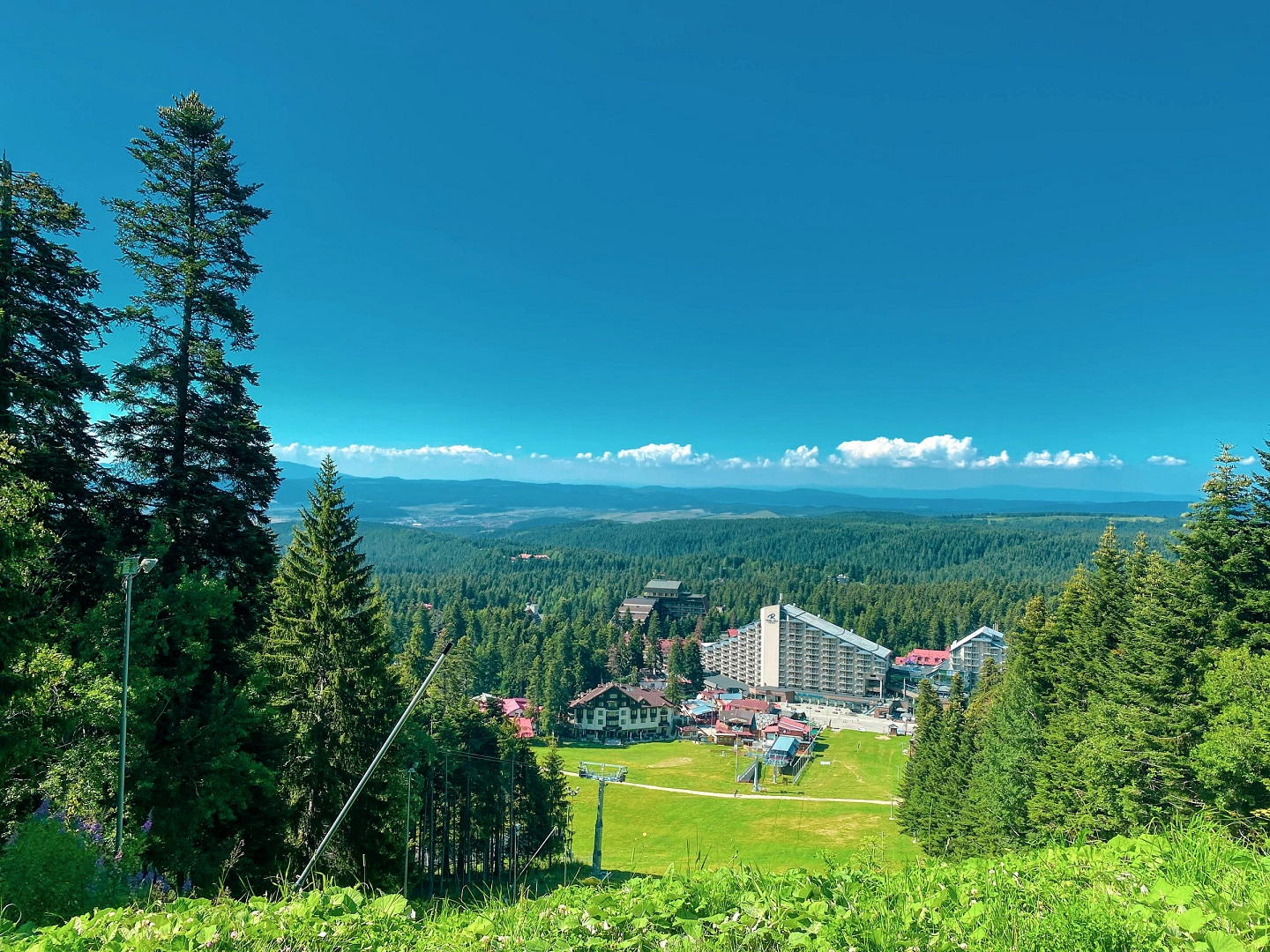 The view of Borovets, Bulgaria in the summer