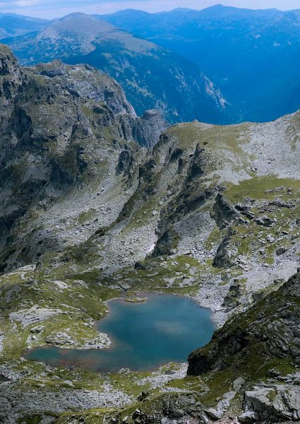Deer Lake from above in the Rila Mountains