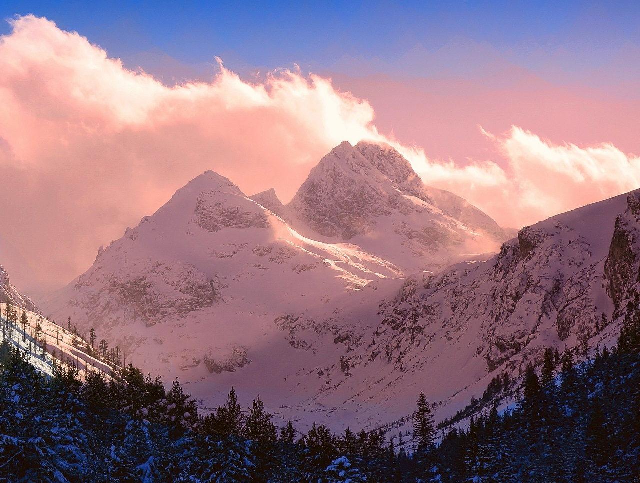 Malyovitsa peak at sunset in the Rila Mountains