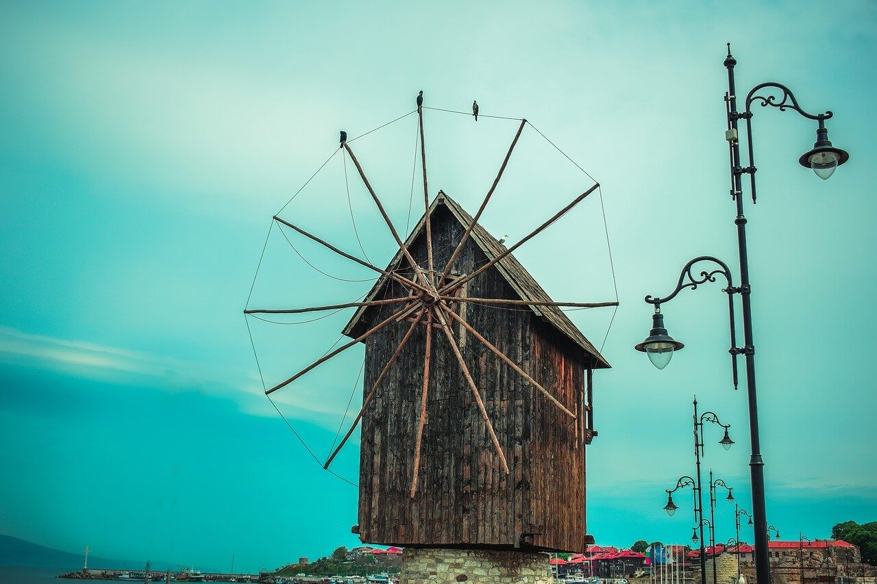 The iconic windmill in Nesebar