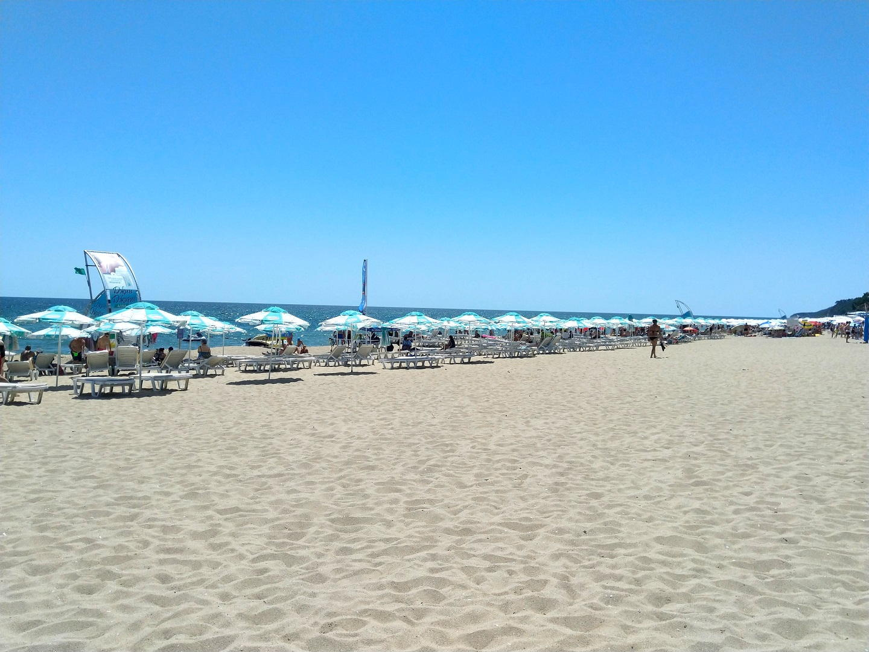 The Black Sea beach in Obzor, Bulgaria