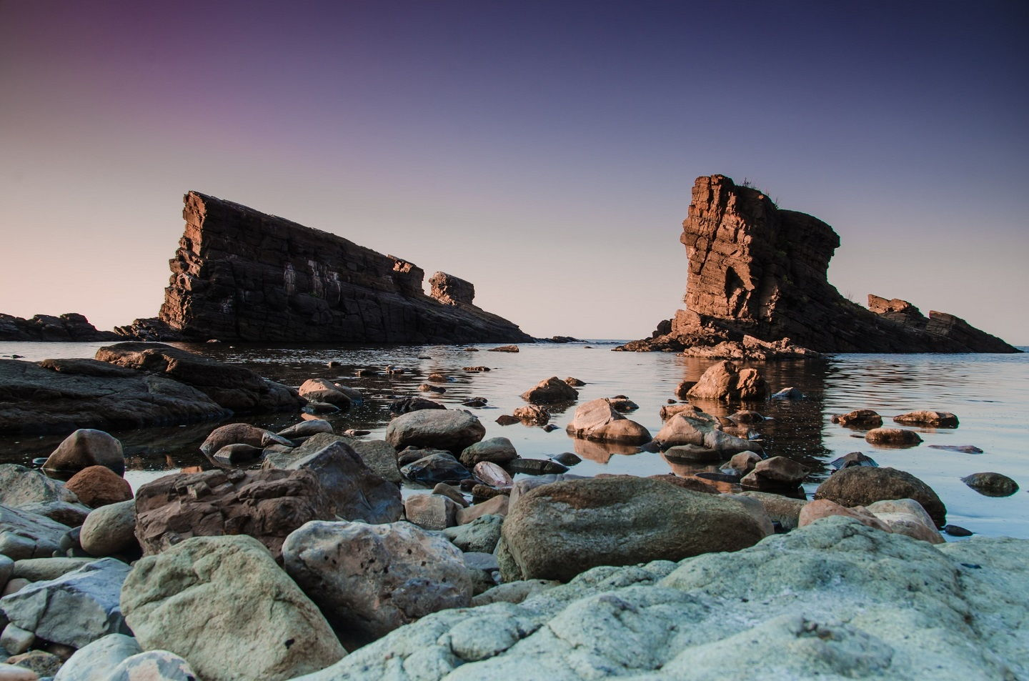 The Stone Ships rock formation in Sinemorets, Bulgaria